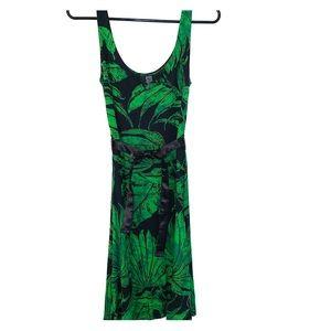 Desigual Adorable Leaf Print Dress Small